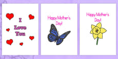 Mother's Day Card Templates (A4 Full)