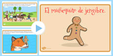 The Gingerbread Man Story PowerPoint Spanish