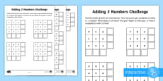 * NEW * Year 2 Maths Adding 3 Numbers Homework Go Respond Activity Sheet