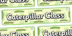 Caterpillar Themed Classroom Display Banner