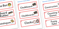 Ruby Red Themed Editable Additional Classroom Resource Labels