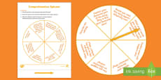 * NEW * Reading Comprehension Questions Spinner Game