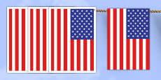 USA A4 Flag Bunting