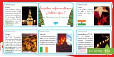 Tarjetas informativas: Navidad por el mundo