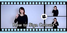 How to Sign Colours in British Sign Language Video (BSL) Clip