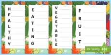 Healthy Acrostic Poems