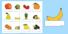 Editable Self Registration Labels (Fruit)