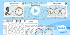 * NEW * PlanIt Y1 Measurement Lesson Pack Telling the Time (3)