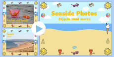 Seaside Display Photo PowerPoint Polish Translation