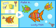 Australia - Chinese New Year Make a Lucky Fish Activity Instructions PowerPoint