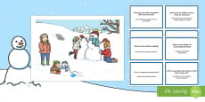 Winter Scenes and Question Cards Pack English/Italian