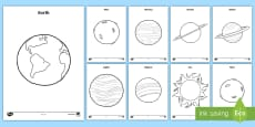 * NEW * Planets Coloring Pages