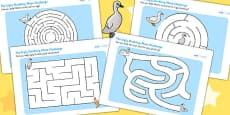 The Ugly Duckling Differentiated Maze Activity Sheet Pack