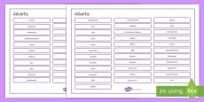* NEW * French Adverbs Word Mat