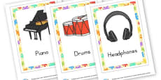 Music Instruments Cards