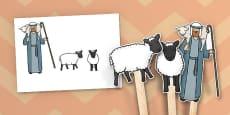 The Lost Sheep Stick Puppets
