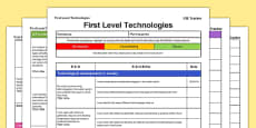 Technologies CfE First Level Tracker