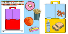Healthy Eating Lunch Activity Spanish