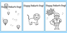 Father's Day Card Template (Colouring)