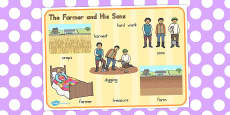 Australia - The Farmer and His Sons Word Mat