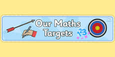 Our Maths Targets Display Banner
