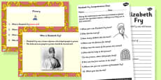 Elizabeth Fry Differentiated Lesson Teaching Pack