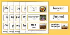 Harvest Topic Words Arabic Translation