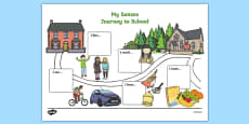 My Senses Journey to School Map