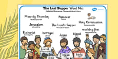 The Last Supper Word Mat Polish Translation