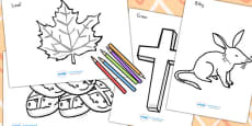 Easter Colouring Pages - Australia