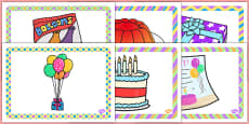 2nd Birthday Party Place Mats