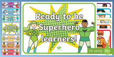 Superhero Behaviour Chart Display Cut-Outs