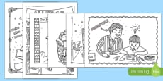 Funny Teaching Mindfulness Colouring Pages German