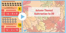 Autumn Themed Subtraction to 20 PowerPoint