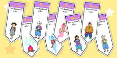Aladdin Editable Bookmarks