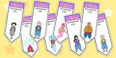 Aladdin Editable Bookmarks