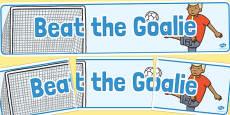 Beat the Goalie Banner