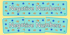 Negative Numbers Display Banner