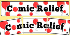 Comic Relief Display Banner