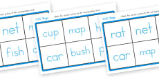 CVC Bingo Matching Card Game