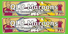 State of Origin Queensland Display Banner