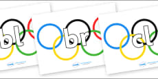 Initial Letter Blends on Olympic Rings