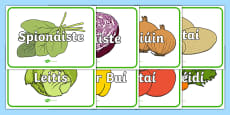 An t-Ollmhargadh The Supermarket Vegetables Gaeilge Large Display Cut-Out Pack