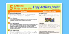 5 Creative Ways to Use 'I Spy' Activity Sheet