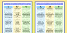 Simple Verbs Past, Present and Future Examples in Sentences Poster Romanian Translation
