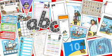 Pirate Themed EYFS KS1 Classroom Set Up Pack