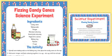 Fizzing Candy Canes Science Experiment