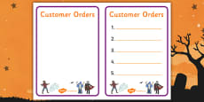 Halloween Fancy Dress Shop Role Play Note Pad