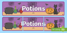 Potions Display Banner