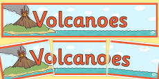 Volcanoes Display Banner